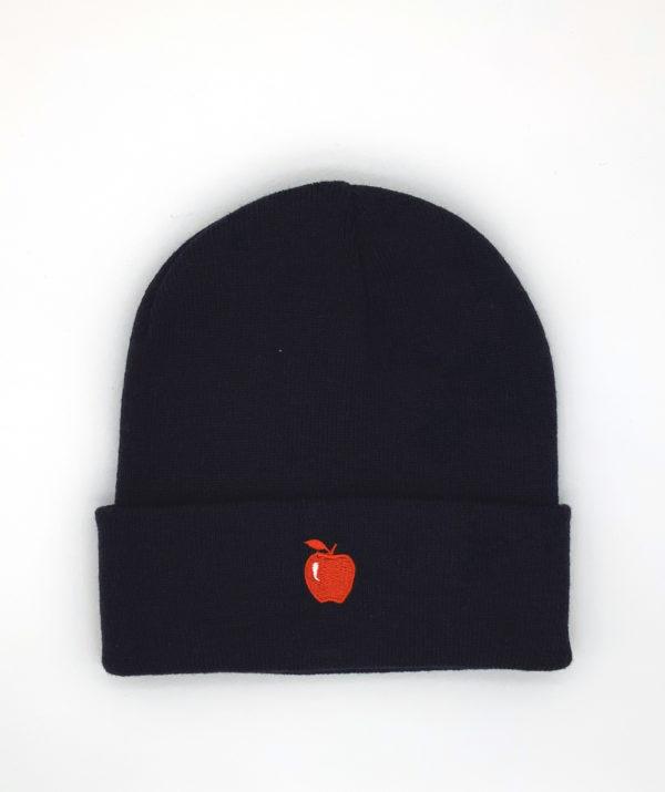 bonnet-noir-pomme-rouge